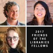 three undergrad library fellows