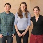 Zachary Wilson, Lila Finch and Jordan Wirfs-Brock, the winners of the 2017-18 Data Visualization Contest