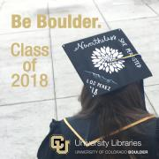 Be Boulder Class of 2018 Student's graduation cap with Still She Persisted written on it