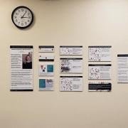 Data visualizations from last year on display