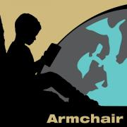 Armchair travel graphic design.