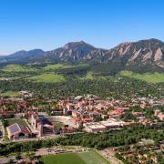 Aerial view of campus by Glenn Asakawa 2021
