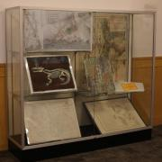 Maps on display as part of the exhibit