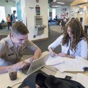 Students studying in Norlin Commons.