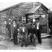 The American Quartet and Mandolin Club near Chautauqua Park, circa 1900