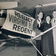 Virginia Blue campaigning for reelection as the Treasurer of the State of Colorado