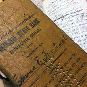 Brown leather Notebook that belonged to Emma Fairhurt