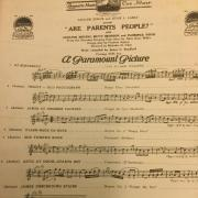 """Are Parents People"" from Paramount Pictures, old sheet music"