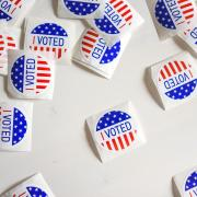 I voted election stickers