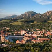 University of Colorado Boulder campus as seen from a drone perspective