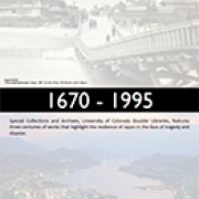 Japan and Disaster: 1670-1995