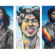 Five portraits from the artist