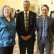 Anita Ortman, Dean Williams, and Andrew Johnson at the Spring Awards Ceremony