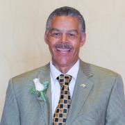 Jim Williams holding his CAL Career Award