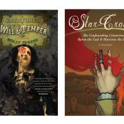 The covers of Creatures of Want and Ruin and Star-Crossed: The Confounding Calamities of Byron the Cad and Marietta the Zombie