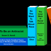 Stack of antiracism books