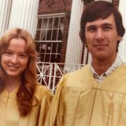 Wes and Linda as graduates.