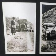 An image of Margaret Long and an automobile.