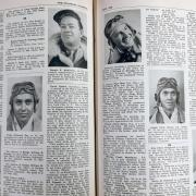 A photo of pages with text and photos of soldiers.