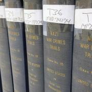 Full fifteen volume set of the Nuremberg War Crimes trials