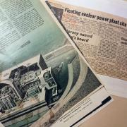 Newspaper clippings from the Rocky Flats collections about picketing at the nuclear site.