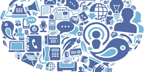 A collection of communication technology icons
