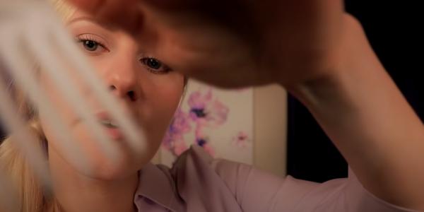 A screen shot from an ASMR video shot from an ASMR video