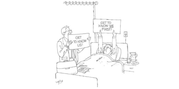 A cartoon about a doctor and patient