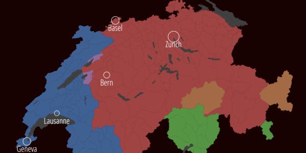 A language map of Switzerland