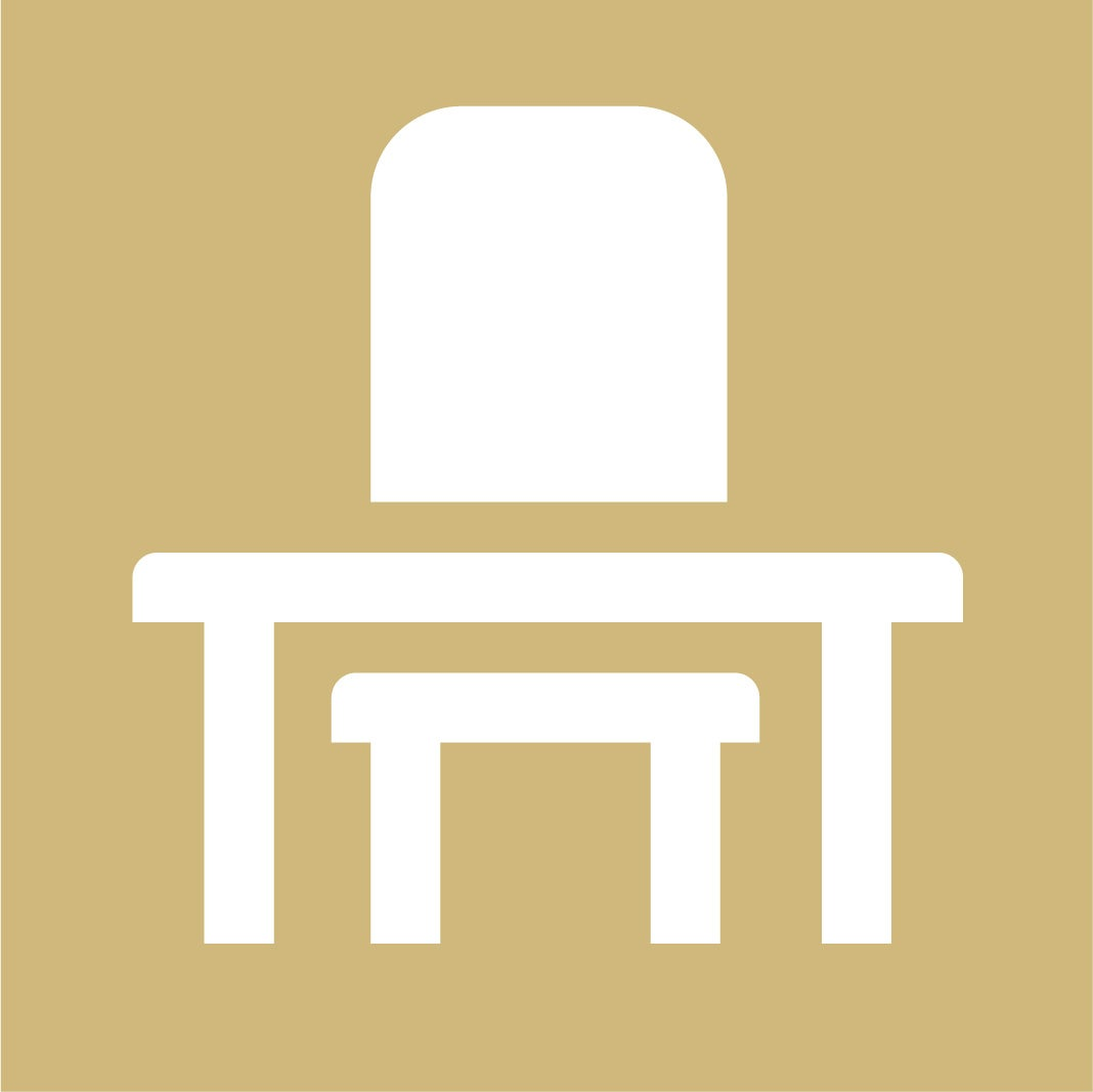 Desk and chair icon