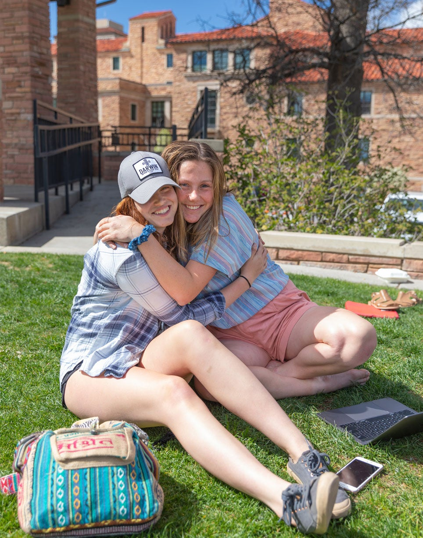 Farrand students hugging