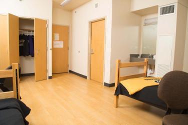 andrews room with door