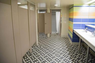 Hallett community bathroom