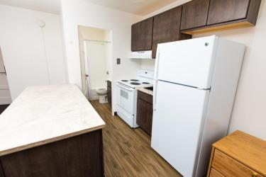 Reed two bedroom apartment kitchen