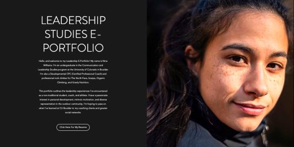Nina Wiliams ePortfolio site