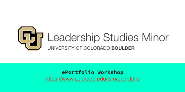 LSM ePortfolio Workshop video