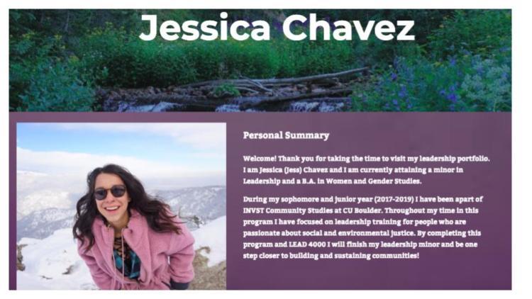 Jessica Chavez ePortfolio Exemplar