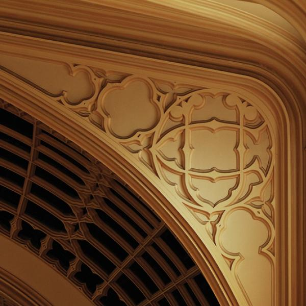 Architectural detail: Proscenium. (Photo by Casey A. Cass/University of Colorado)