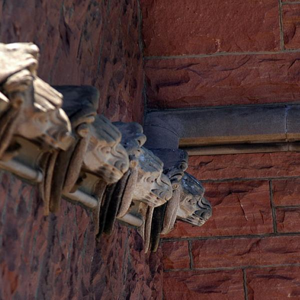 Architectural detail of Macky gargoyles
