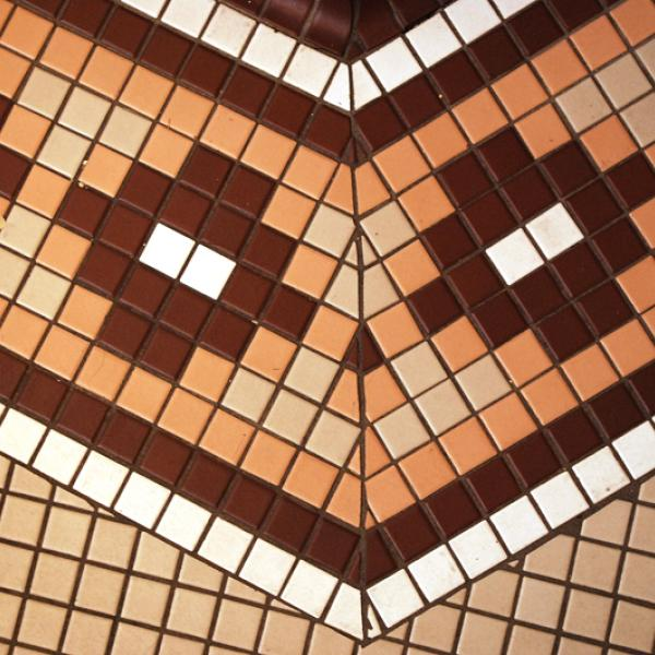 Architectural detail: Floor tiles. (Photo by Casey A. Cass/University of Colorado)