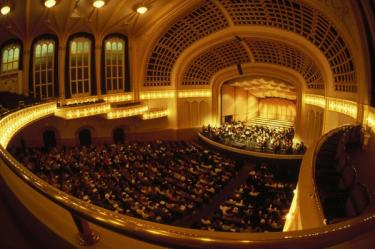 View of the stage from the balcony