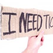 Sign: I Need Tickets