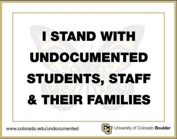 I stand with Undocumented Students, staff and their families