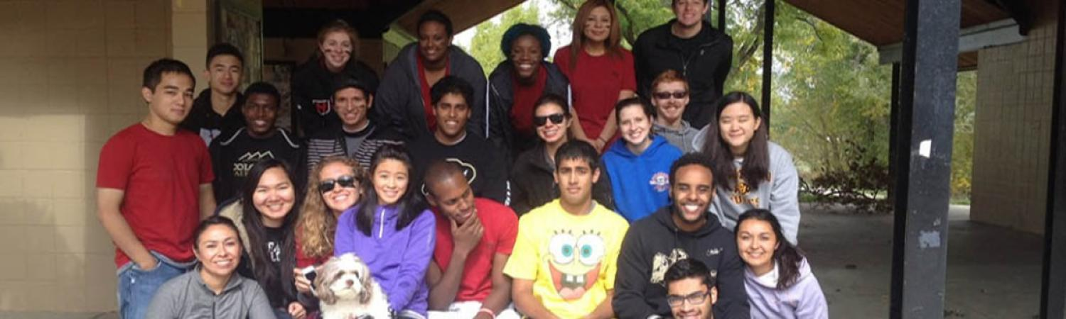 MASP Students Group Photo at Picnic Shelter