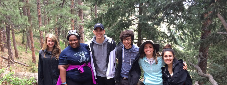 MASP Students on a Nature Walk at Chautauqua