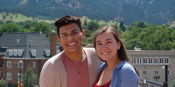 2017 PEAC Mentors Aili and Alex smiling