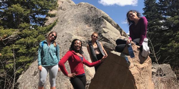 MASP students on a hike