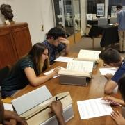 MASP students studying for a class together