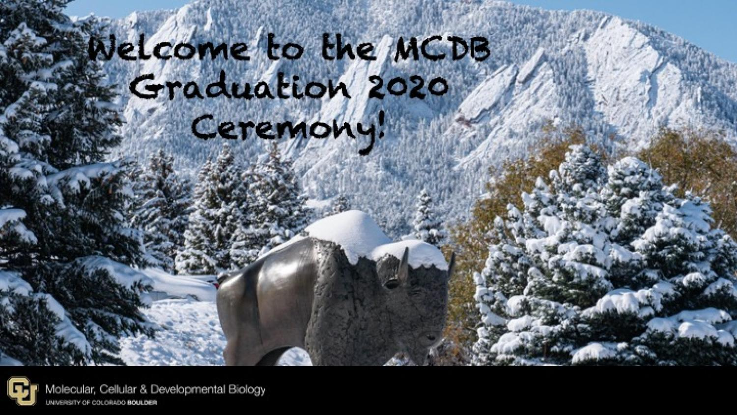 Welcome to the MCDB Graduation 2020 Ceremony!