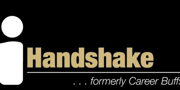 graphic logo for the Handshake service